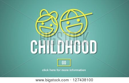 Children Childhood Kids Website Concept