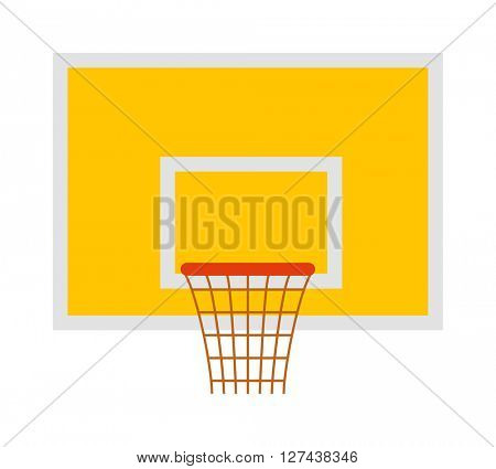 Basketball hoop sport basket game play competition equipment vector illustration.
