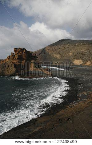 Europa, Spanien, Kanarische Inseln, Lanzarote, Los Hervideros