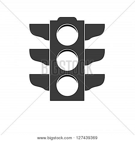 Traffic light signal icon Isolated on White Background