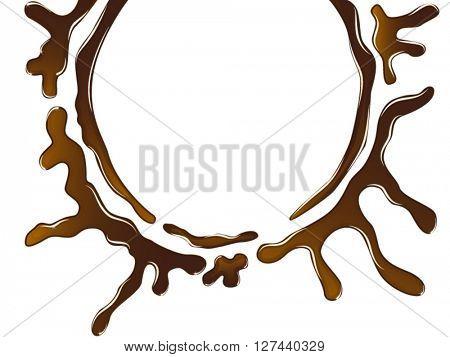 Chocolate spill