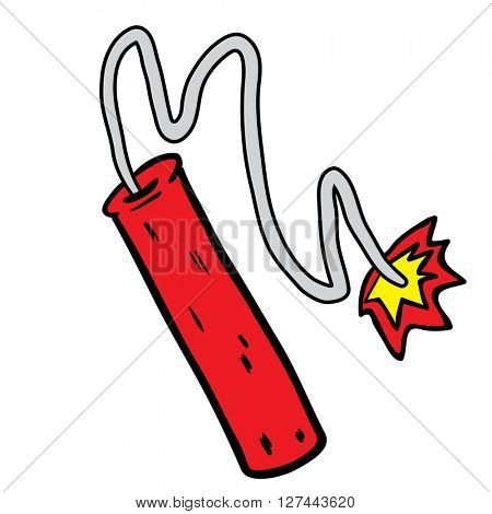 dynamite cartoon illustration isolated on white