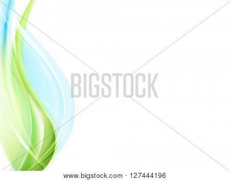 Abstract elegant green blue waves. Vector graphic design