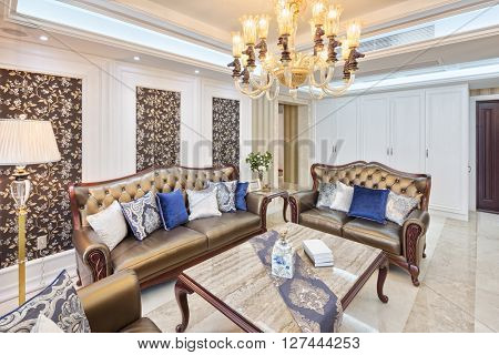 decoration and furniture of modern living room