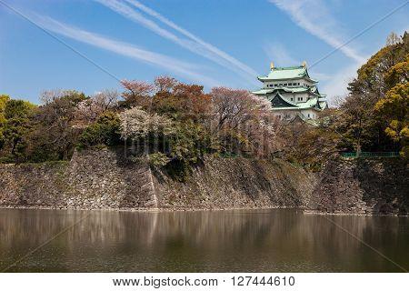 NAGOYA JAPAN - April 9, 2016: Nagoya-jo in Nagoya Japan on April 9, 2016 .,Nagoya Castle in Japan
