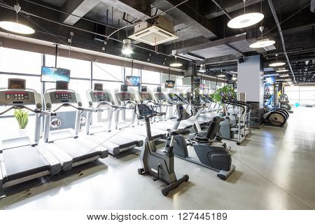 equipment and design of modern gym