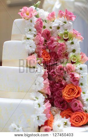 Beautiful Four-layer Cake