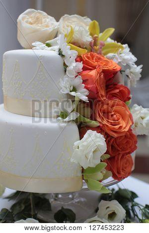 Beautiful Two-layer Cake