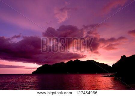 Sunset Glow Fiery Backdrop