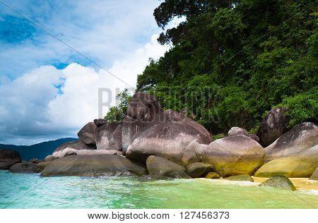 Divine Seashore In Sunny Paradise