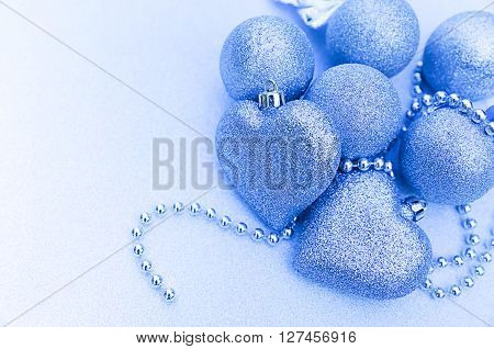 Sparkling Christmas Composition With Heart Toy