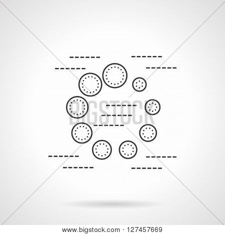 Web element for site, application. Round ball preloader sign. Flat line style vector icon. Single design element for website, business.