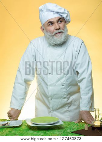Man Cook With Dishes