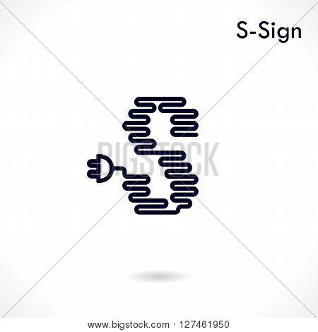 Creative S- letter icon abstract logo design vector template.Creative S- alphabet vector design.Business and education creative logotype symbol.Vector illustration