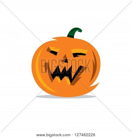 Festive Vegetable with cut Face Isolated on a White Background