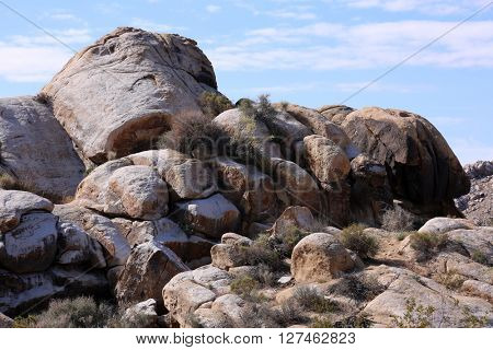 Desert Boulders on the California Nevada border.