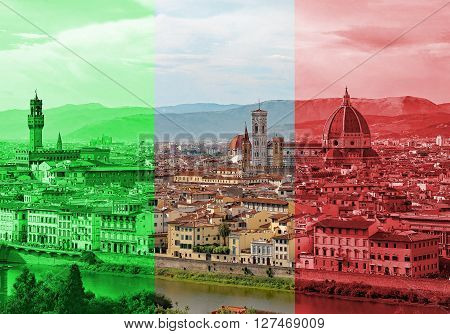 Great View Of Florence In Italy With The Dome Of The Duomo