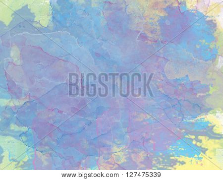 Abstract artistic Background,  color splashes - watercolor art