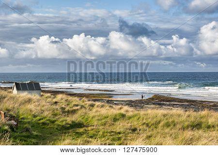 The beach at Bamburgh on the Northumberland coast