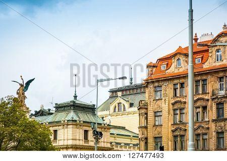 Old Town ancient architecture in Prague, Czech Republic