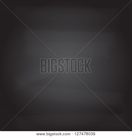 Black board background with eraser dust vector for use by program generate