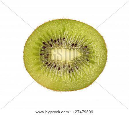 Kiwi slice isolated on a white background