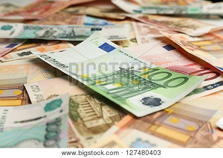 Background made of money banknotes