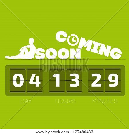 Comming soon with countdown timer vector illustration