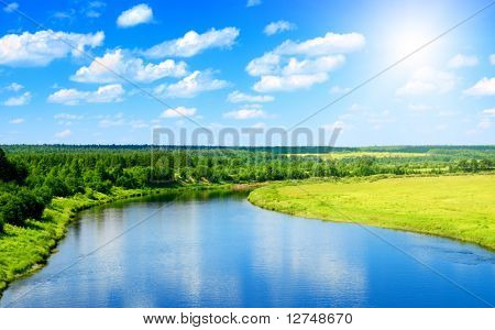 river and summer nature