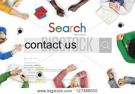 Contact Us Information Service Customer Care Concept