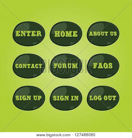 website icon button set theme vector art illustration