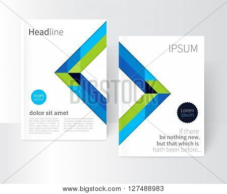 Brochure, leaflet, flyer, poster template. stock-vector abstract background. EPS 10