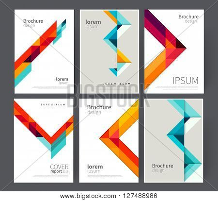 set cover for Brochure, leaflet, flyer, poster template. stock-vector abstract background. EPS 10