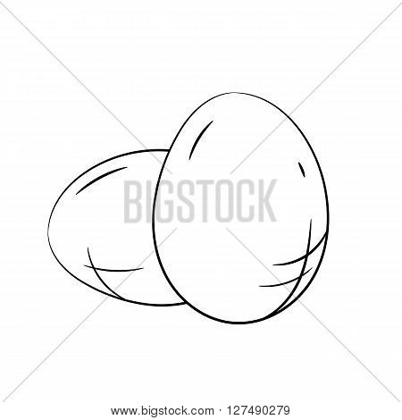 Eggs. Vector hand drawn eggs illustration isolated on white background - stock vector