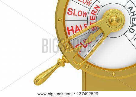 Engine order telegraph Full Astern concept. 3D rendering