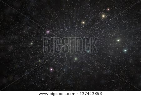 Gemini twins constellation 3D illustration with colorful stars