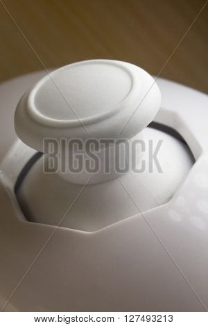 Macro extreme close up video game controller buttons and joy stick