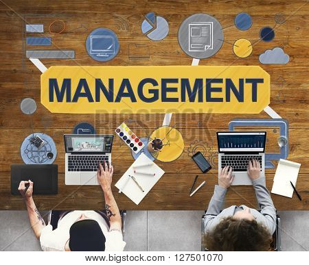 Management Business Strategy Coaching Control Concept