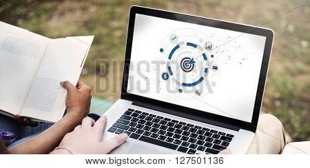 Digital Hud Target Symbol Graphics Concept