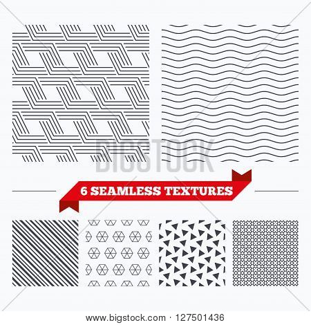 Diagonal lines, waves and geometry design. Geometrical lines texture. Stripped geometric seamless pattern. Modern repeating stylish texture. Material patterns.