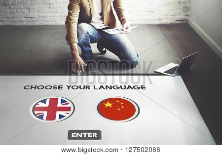 Language Dictionary English Chinese Concept