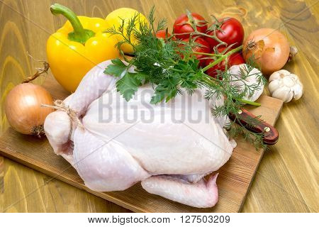Broiler Chicken And Vegetables
