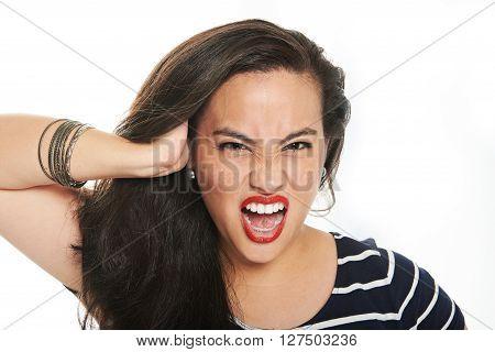 Woman Scream Face