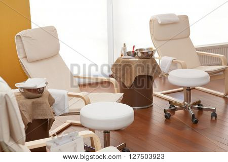 Detail of relaxation treatment room