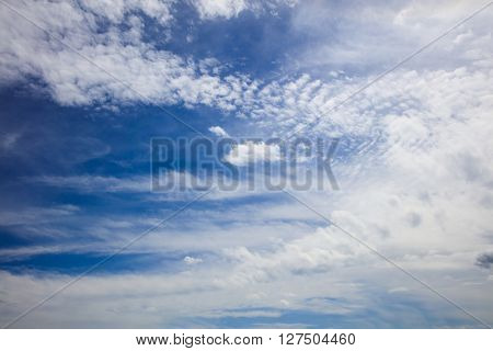 View on bright summer skyscape