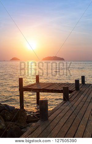 Sunset on the coast.