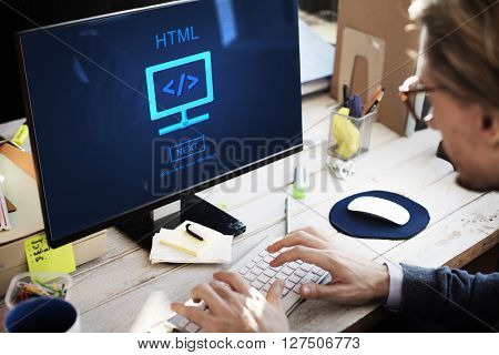 HTML Web Development Code Design Concept