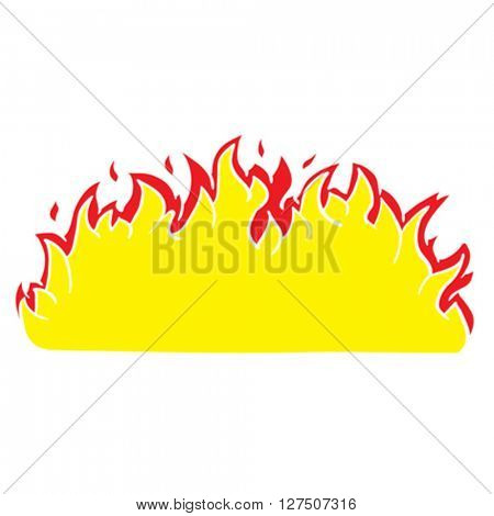 fire border flames cartoon illustration