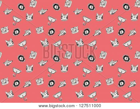 patternt animals cartoon illustration vector 2