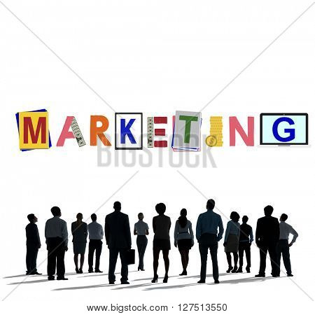 Marketing Strategy Business Commerce Solution Concept
